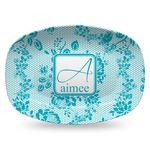 Lace Plastic Platter - Microwave & Oven Safe Composite Polymer (Personalized)