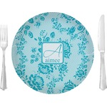 """Lace Glass Lunch / Dinner Plates 10"""" - Single or Set (Personalized)"""