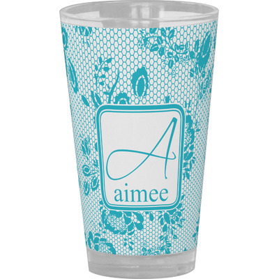 Lace Drinking / Pint Glass (Personalized)