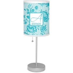 "Lace 7"" Drum Lamp with Shade (Personalized)"