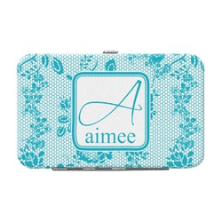 Lace Genuine Leather Small Framed Wallet (Personalized)