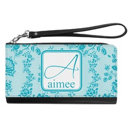 Lace Genuine Leather Smartphone Wrist Wallet (Personalized)