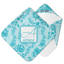 Lace Hooded Baby Towel (Personalized)