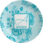 Lace Melamine Plate (Personalized)
