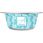 Lace Stainless Steel Dog Bowl (Personalized)