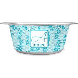 Lace Stainless Steel Pet Bowl - Medium (Personalized)