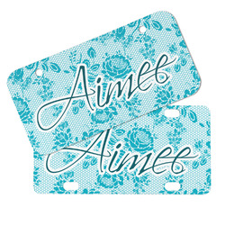 Lace Mini/Bicycle License Plates (Personalized)