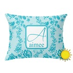 Lace Outdoor Throw Pillow (Rectangular) (Personalized)