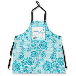 Lace Apron Without Pockets w/ Name and Initial
