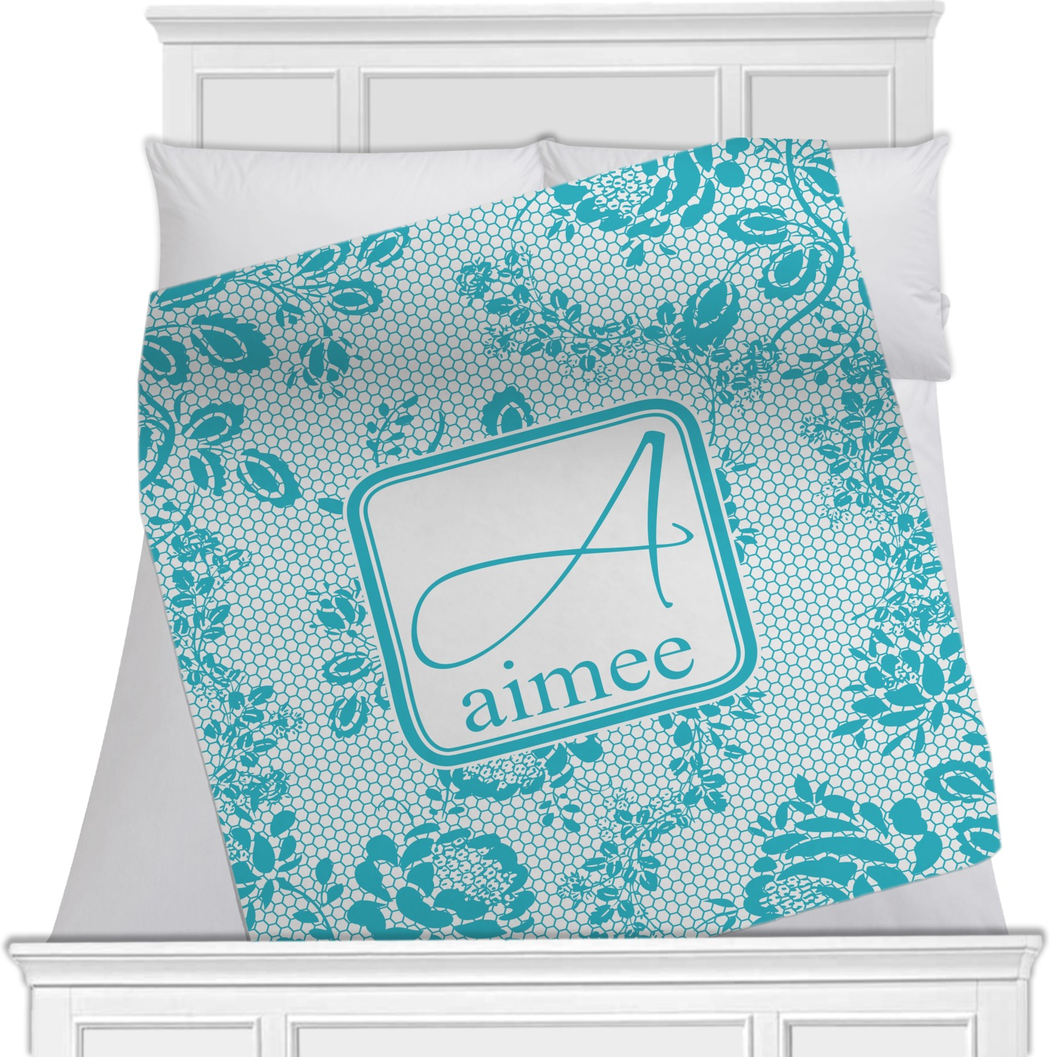 Lace Fleece Blanket 40 Quot X30 Quot Double Sided Personalized