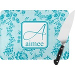 Lace Rectangular Glass Cutting Board (Personalized)