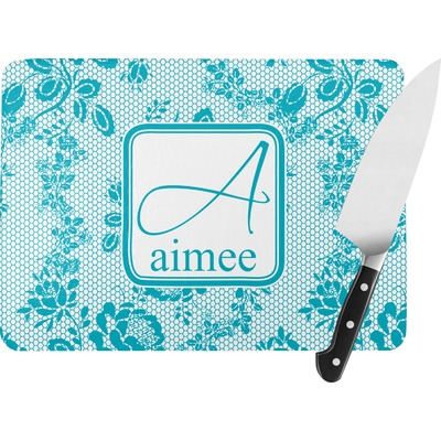 Lace Rectangular Glass Cutting Board (Personalized)