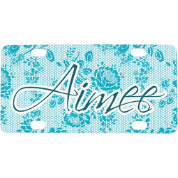 Lace Mini / Bicycle License Plate (Personalized)