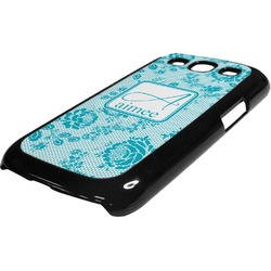 Lace Plastic Samsung Galaxy 3 Phone Case (Personalized)