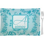 Lace Glass Rectangular Appetizer / Dessert Plate - Single or Set (Personalized)