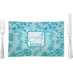 Lace Glass Rectangular Lunch / Dinner Plate - Single or Set (Personalized)