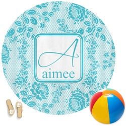Lace Round Beach Towel (Personalized)