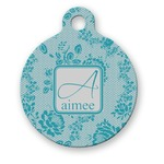 Lace Round Pet Tag (Personalized)