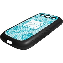 Lace Rubber Samsung Galaxy 3 Phone Case (Personalized)