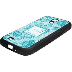 Lace Rubber Samsung Galaxy 4 Phone Case (Personalized)