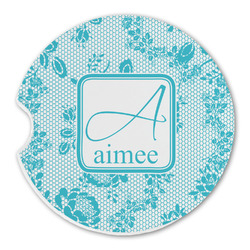 Lace Sandstone Car Coasters (Personalized)