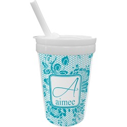 Lace Sippy Cup with Straw (Personalized)