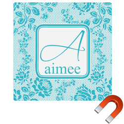Lace Square Car Magnet (Personalized)