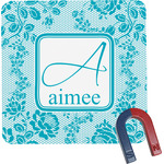 Lace Square Fridge Magnet (Personalized)