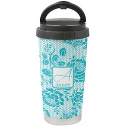 Lace Stainless Steel Travel Mug (Personalized)