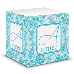 Lace Sticky Note Cube (Personalized)