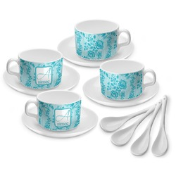 Lace Tea Cup - Set of 4 (Personalized)