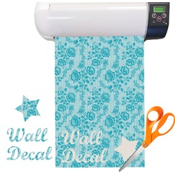 Lace Pattern Vinyl Sheet (Re-position-able)