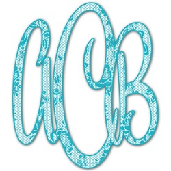 Lace Monogram Decal - Small (Personalized)