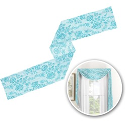 Lace Window Sheer Scarf Valance (Personalized)