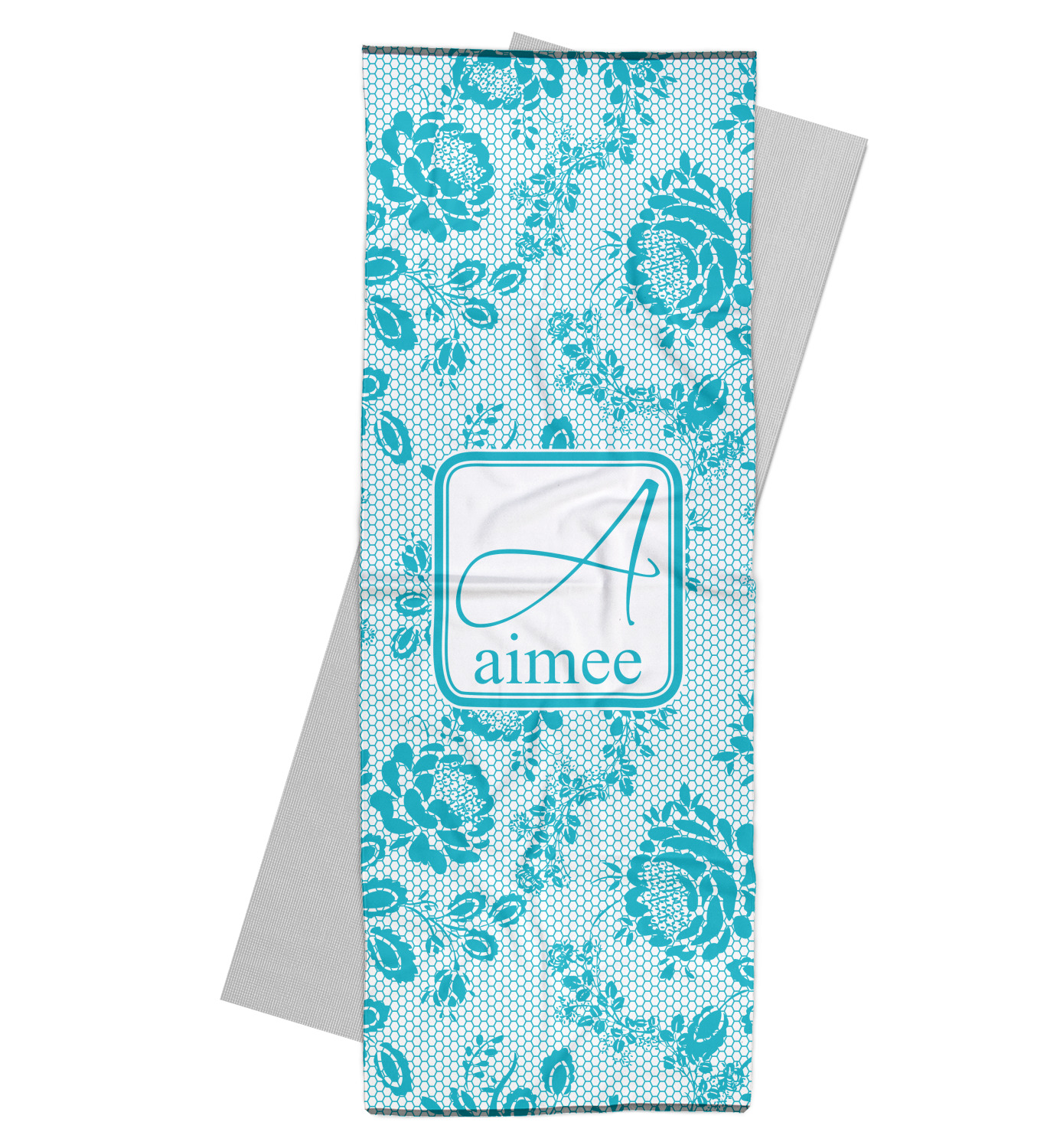 Lace Yoga Mat Towel (Personalized)