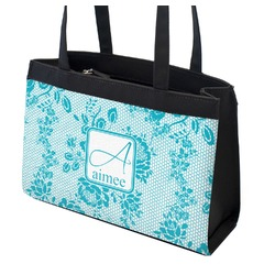 Lace Zippered Everyday Tote (Personalized)