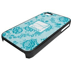 Lace Plastic 4/4S iPhone Case (Personalized)
