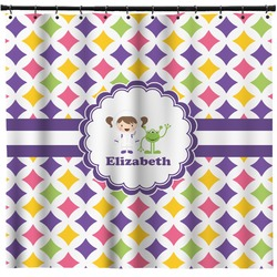 Girls Astronaut Shower Curtain (Personalized)