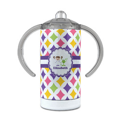 Girls Astronaut 12 oz Stainless Steel Sippy Cup (Personalized)