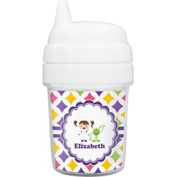 Girls Astronaut Baby Sippy Cup (Personalized)