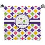 Girls Astronaut Full Print Bath Towel (Personalized)