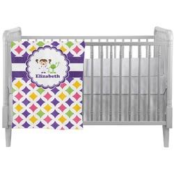 Girls Astronaut Crib Comforter / Quilt (Personalized)