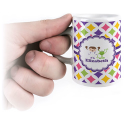 Girls Astronaut Espresso Cups (Personalized)
