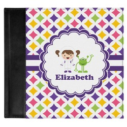 Girls Astronaut Genuine Leather Baby Memory Book (Personalized)