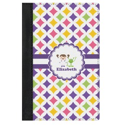 Girls Astronaut Genuine Leather Passport Cover (Personalized)