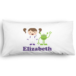 Girls Astronaut Pillow Case - King - Graphic (Personalized)