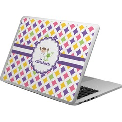 Girls Astronaut Laptop Skin - Custom Sized (Personalized)