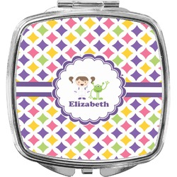 Girls Astronaut Compact Makeup Mirror (Personalized)
