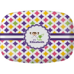 Girls Astronaut Melamine Platter (Personalized)