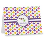 Girls Astronaut Note cards (Personalized)